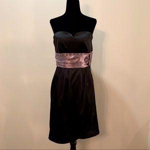 RW & Co. Women's Cocktail Dress, Black with Sash